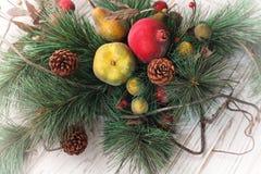 Vrolijke Kerstmis en de gelukkige nieuwe achtergrond van de jaarkaart Royalty-vrije Stock Foto
