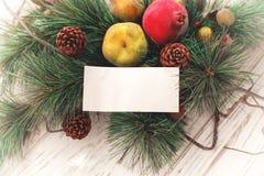 Vrolijke Kerstmis en de gelukkige nieuwe achtergrond van de jaarkaart Stock Afbeeldingen