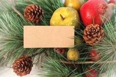 Vrolijke Kerstmis en de gelukkige nieuwe achtergrond van de jaarkaart Royalty-vrije Stock Foto's