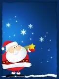Vrolijke Kerstmis en de Kerstman Stock Fotografie