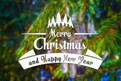 Vrolijke Kerstmis en de nieuwe kaart van de jaargroet Royalty-vrije Stock Fotografie