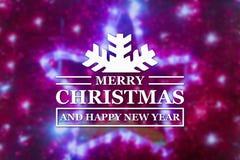 Vrolijke Kerstmis en de nieuwe kaart van de jaargroet Stock Fotografie