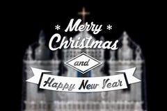 Vrolijke Kerstmis en de nieuwe kaart van de jaargroet Royalty-vrije Stock Foto's