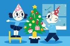 Vrolijke Kerstmis en een Gelukkig Nieuwjaar Stock Fotografie