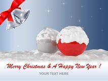 Vrolijke Kerstmis en een Gelukkig Nieuwjaar Royalty-vrije Stock Afbeelding
