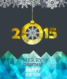 Vrolijke Kerstmis en een Gelukkig Nieuwjaar Royalty-vrije Stock Foto