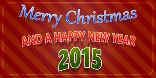 Vrolijke Kerstmis en een Gelukkig Nieuwjaar 2015 stock illustratie
