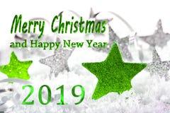 Vrolijke Kerstmis en gelukkig nieuw jaar 201 stock afbeelding