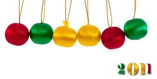 Vrolijke Kerstmis en gelukkig nieuw jaar Stock Foto's