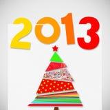Vrolijke Kerstmis en gelukkig nieuw jaar 2013 Stock Afbeeldingen