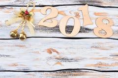 Vrolijke Kerstmis en Gelukkig Nieuwjaar 2018 Royalty-vrije Stock Afbeeldingen