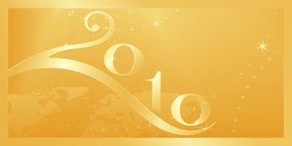 Vrolijke Kerstmis en Gelukkig Nieuwjaar 2010! Stock Foto