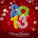 Vrolijke Kerstmis en Gelukkig Nieuwjaar 2013 Stock Afbeelding