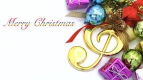 Vrolijke Kerstmis en Gelukkig Nieuwjaar Royalty-vrije Stock Afbeeldingen