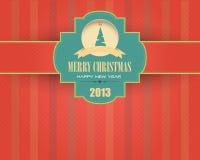 Vrolijke Kerstmis en Gelukkig Nieuwjaar Royalty-vrije Illustratie