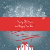 Vrolijke Kerstmis en Gelukkig Nieuwjaar! Stock Afbeeldingen