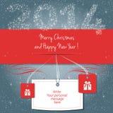 Vrolijke Kerstmis en Gelukkig Nieuwjaar! Stock Foto's