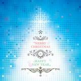 Vrolijke Kerstmis en Gelukkig Nieuwjaar Stock Foto's