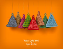 Vrolijke Kerstmis en Gelukkig Nieuwjaar Royalty-vrije Stock Fotografie