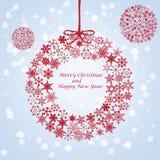 Vrolijke Kerstmis en Gelukkig Nieuwjaar Stock Foto