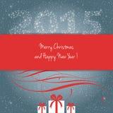 Vrolijke Kerstmis en Gelukkig Nieuwjaar 2015! Stock Afbeeldingen