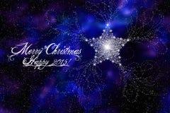 Vrolijke Kerstmis en Gelukkig Nieuwjaar 2015 stock illustratie