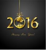 2016 Vrolijke Kerstmis en Gelukkig Nieuwjaar Stock Fotografie