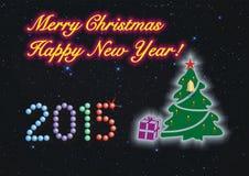 Vrolijke Kerstmis en Gelukkig Nieuwjaar! royalty-vrije stock foto's