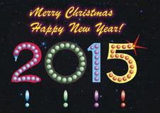 Vrolijke Kerstmis en Gelukkig Nieuwjaar! stock fotografie