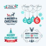 Vrolijke Kerstmis en Gelukkig Nieuwjaar 2016 Royalty-vrije Stock Afbeeldingen