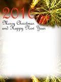 Vrolijke Kerstmis en Gelukkig Nieuwjaar 2016 Royalty-vrije Stock Afbeelding