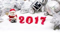 Vrolijke Kerstmis en Gelukkig Nieuwjaar Stock Afbeelding