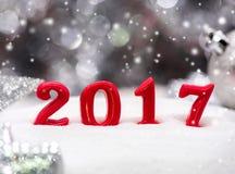 Vrolijke Kerstmis en Gelukkig Nieuwjaar Stock Afbeeldingen