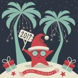 Vrolijke Kerstmis en Gelukkig Nieuwjaar stock illustratie