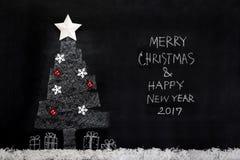 Vrolijke Kerstmis en Gelukkig Nieuwjaar 2017 Royalty-vrije Stock Foto's