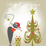 Vrolijke Kerstmis en Gelukkig Nieuwjaar Royalty-vrije Stock Foto
