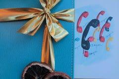 Vrolijke Kerstmis en Gelukkig Nieuwjaar AUGURI! Royalty-vrije Stock Afbeeldingen