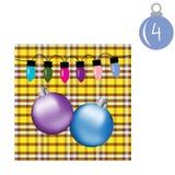 Vrolijke Kerstmis en Gelukkig Nieuwjaar Kleurrijke Kerstmis Advent Calendar Stock Foto's