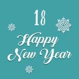 Vrolijke Kerstmis en Gelukkig Nieuwjaar Kleurrijke Kerstmis Advent Calendar Aftelprocedure aan Kerstmis 18 Stock Foto's