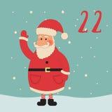 Vrolijke Kerstmis en Gelukkig Nieuwjaar Kleurrijke Kerstmis Advent Calendar Aftelprocedure aan Kerstmis 22 Royalty-vrije Stock Foto's
