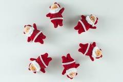 Vrolijke Kerstmis en Gelukkig Nieuwjaar, Santa Claus-cirkels Stock Foto