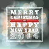 Vrolijke Kerstmis en Gelukkig Nieuwjaar Vectorbackgrou Stock Fotografie
