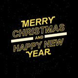 2019 Vrolijke Kerstmis en Gelukkig Nieuwjaar voor uw seizoengebonden pamfletten en groetkaarten of Kerstmis als thema gehade uitn Stock Fotografie
