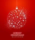 Vrolijke Kerstmis en Gelukkige de snuisterijca van Nieuwjaarsterren Stock Foto