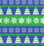 Vrolijke Kerstmis en Gelukkige de vakantieachtergronden van de Nieuwjaarwinter Inzameling van naadloze patronen met rode en witte Royalty-vrije Stock Fotografie