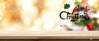 Vrolijke Kerstmis en gelukkige nieuwe jaar 2017 achtergrond Royalty-vrije Stock Fotografie