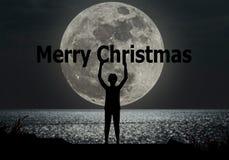 Vrolijke Kerstmis en gelukkige nieuwe jaar 2017 concep Stock Fotografie