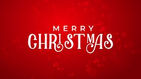 Vrolijke Kerstmis en gelukkige nieuwe jaar rode achtergrond stock fotografie