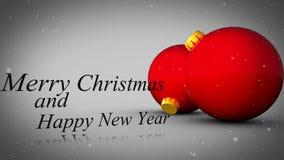 Vrolijke Kerstmis en gelukkige nieuwe jaaranimatie vector illustratie