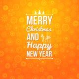 Vrolijke Kerstmis en Gelukkige nieuwe jaarkaart. Stock Foto's